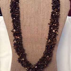 Earth-tone Stone & Bead Necklace